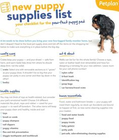 Bringing home a new puppy? Make sure you're totally pre-pared with this printable check list of everything you need for your new fur baby!