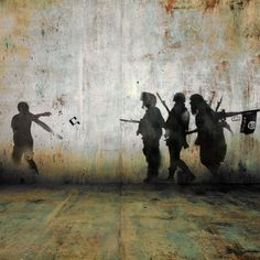 """""""I am not a political artist,"""" Tammam Azzam tells us. It's a Syria that hits every chord in your body. Activist Art, Magazine Pictures, Group Art, Chalk Art, National Museum, Syria, Comic Books Art, Urban Art, Street Art"""