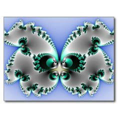 Mariposa del cromo postal