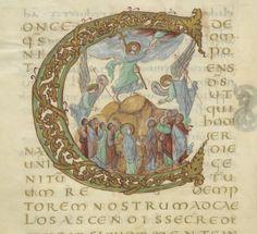 Sacramentarium. [Sacramentaire dit de Drogon] Date d'édition : 845-855 Type : manuscrit Langue : Latin Droits : domaine public Identifiant : ark:/12148/btv1b60000332