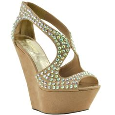 Wedges and Bling = My Kind of Shoe! I'm gonna go buy these <3