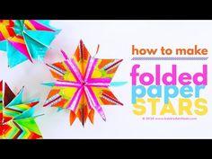 Mini Folded Paper Stars - Babble Dabble Do