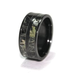 Black Double Barrel Camo ring