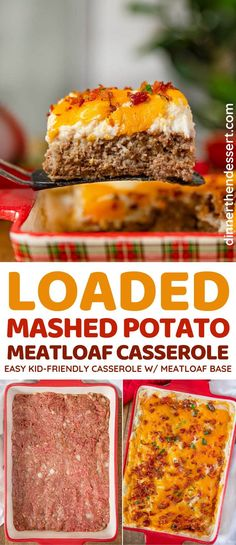 Meatloaf Casserole Recipe, Casserole Dishes, Beef Dishes, Food Dishes, Main Dishes, Meat Recipes, Cooking Recipes, Meatloaf Recipes, Hamburger Recipes
