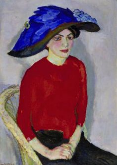 Jan Sluijters: 'Portrait of a Lady in Red', 1912