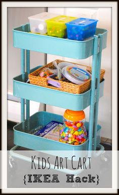 Kids Art Cart {IKEA hack} I love these carts, but have talked myself out of buying them several times.  I might be convincing myself again.