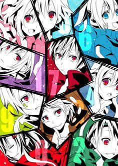 Mekakushi Dan   Shintarou, Kido, Seto, Kano, Mary, Momo, Ayano, Hibiya, Konoha, Ene (Enomoto Takane)