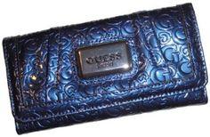 Women's Guess Wallet Bedelia Signature Logo Blue GUESS. $54.00