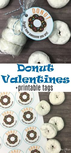 Donuts are always a crowd pleaser and this easy donut Valentines idea is not exception! You can use any kind of donut in any size (traditional, mini, donut holes, etc). Use our printable tags to turn them into a cute, quick and tasty gift. Valentines Day Office, Kinder Valentines, Valentine Gifts For Kids, Valentines Day Treats, Valentine Day Crafts, Valentines Ideas For School, Free Printable Valentines, Free Printable Tags, Valentines Teacher Gift
