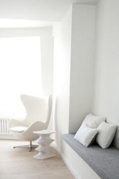 grey felt and white....