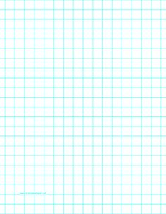 This letter-sized graph paper has two aqua blue lines every inch. Free to download and print