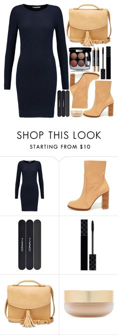 """""""Happiness Depends On Ourselves. Be Happy"""" by razone ❤ liked on Polyvore featuring Autumn Cashmere, Chinese Laundry, MAC Cosmetics, Gucci, Lucky Brand, Eve Lom, Bobbi Brown Cosmetics, Minime, sweaterdress and fallstyle"""