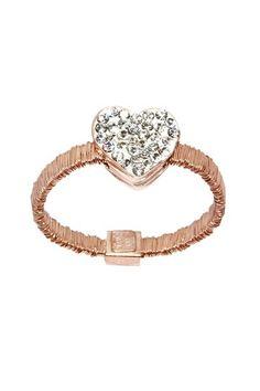 Heart & Mesh Rose Gold Ring.