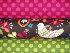 Michael Miller Fabric, Full Yard Set, Birds of Norway and Ta Dots, 3 Yards Total. $24.00, via Etsy.