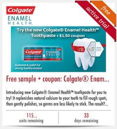 FREE Sample of Colgate Enamel Health Toothpaste