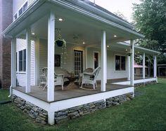 Valley Farmhouse - traditional - Porch - Boston - Habitat Post & Beam, Inc.