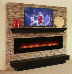 Make a Splash with our Manhattan modern mantel shelf and any contemporary setting, like our AL100CLX linear electric fireplace!