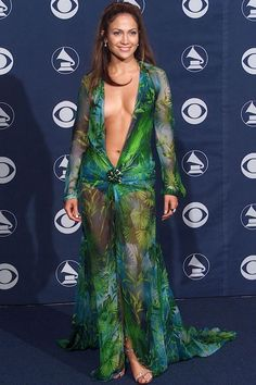 Jennifer Lopes in Versace at 2000 Grammys - not the most conservative but probably one of the most iconic dresses ever!