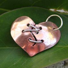 Broken Heart:(<3 Jewelry Crafts, Jewelry Art, Handmade Jewelry, Jewelry Ideas, Copper Jewelry, Pendant Jewelry, Peace Love And Understanding, Mending A Broken Heart, I Love Heart