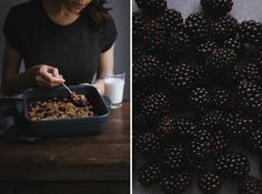 Whole wheat Blackberry Crumble. More recipes on Honeytanie.com