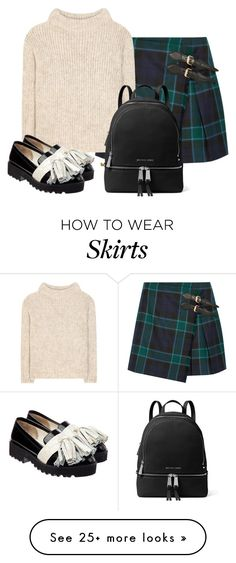 """Untitled #1892"" by cardigurl on Polyvore featuring Burberry, Tom Ford, Anouki, MICHAEL Michael Kors and Judith Leiber"