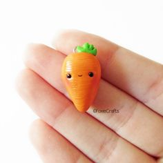 #kawaii #charms #polymer #clay #carrot #charm