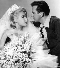 Sandra Dee and Bobby Darin on their wedding day