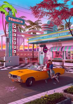 aesthetic retro First Kiss Nostalgia, Memories of Youth. Denny Busyet Dreamlike Artwork inspired by and aesthetic nostalgia, fueled by synthwave, retrowave music. Bedroom Wall Collage, Photo Wall Collage, Picture Wall, Picture Collages, Aesthetic Pastel Wallpaper, Aesthetic Backgrounds, Aesthetic Wallpapers, Neon Aesthetic, Aesthetic Collage