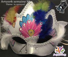 C'est la période du carnaval partout en France et dans le monde, voici donc l'idée de mon thème de cette semaine. L'inspiration vient des superbes et majestueux masques du Carnaval de Venice en Italie qui s'est tenu du 15 février au 4 mars 2014.