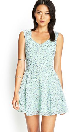 FOREVER 21 Floral Chiffon Cutout Dress  As seen in People Style Watch, Feb. 2015, pg. 38