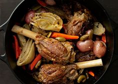 Braised Lamb Shanks with Fennel and Baby Potatoes