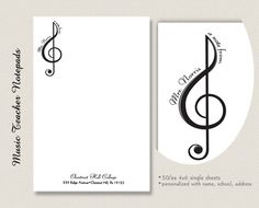 Personalized Music Teacher Gift Notepad by EclecticNoteCards, $7.00
