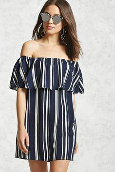Product Name:Off-the-Shoulder Flounce Dress, Category:dress, Price:19.9