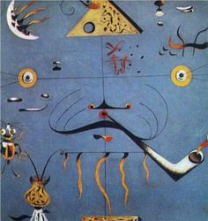 Joan Miro (1893 - 1983) | Surrealism | Catalan Peasant Head - 1925