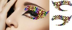 1 Pair of Temporary Tattoo for Eyes Eyelids Rainbow Color Pop for Clubbing Party Prom Festival via Etsy