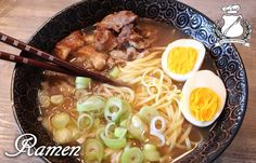 Japanese Ramen - The recipe of the Grand Council of the Fork .- Japanese Ramen – Grand Council of the Fork Ramen Recipes, Asian Recipes, Chicken Recipes, Cooking Recipes, Ethnic Recipes, A Food, Good Food, Food And Drink, Yummy Food