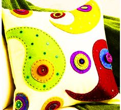 Make a funky cushion.