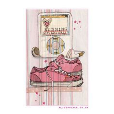 Happy birthday runner running lady girl