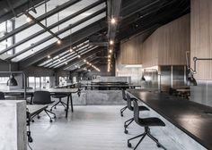 Flamingo Shanghai Office Design by Neri and Hu Design 1 Bureau Design, Architecture Design Concept, Interior Architecture, Office Interior Design, Office Interiors, Design Offices, Office Designs, Commercial Design, Commercial Interiors