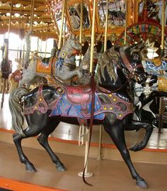 The Enchanted Dentzel Carousel Horses