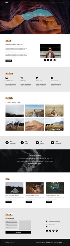 Buy INK - Personal Portfolio Template by vavelo on ThemeForest. is a Personal Portfolio HTML Template designed for a freelancer, creative designer, photographer who wants to di. Best Ui Design, Ux Design, Creative Design, Modern Design, Graphic Design, Resume Skills Section, Cv Website, Email Layout, Personal Portfolio