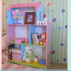 All 4 Kids Fairy Dollhouse Bookcase with Balcony   Wayfair Australia