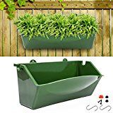 KORAM Vertical Garden Planter Wall Mount Hanging Flower Box Living Wall Planter Plant Pots with S Shaped Hooks for Balcony Window Vegetable Gardens, Garden Gifts for Men & Women Front Yard Fence, Diy Fence, Fence Landscaping, Backyard Fences, Garden Fencing, Bamboo Fencing, Fence Ideas, Herb Garden, Vertical Garden Planters