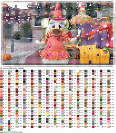 http://ponciar.blogspot.it/2016/10/happy-halloween-minnie-mickey-mouse-and.html Daisy duck halloween cross stitch