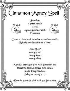 Cinnamon money spell