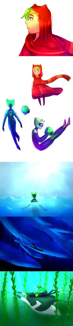 [speedpaint]Jacksepticeye ABZU and Journey doodles by ChloesImagination on DeviantArt