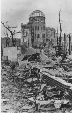 HiroshiPhoto of what became later Hiroshima Peace Memorial among the ruins of buildings in Hiroshima, in early October, 1945, photo by Shigeo Hayashi. Date	October 1945