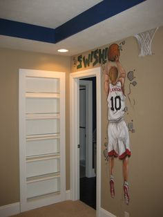 This would be so cute for a sports theme room.