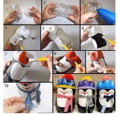 Penguin diy with bottle