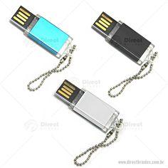 Estimule seus clientes a andarem com a sua marca! Pen Drive Mini.